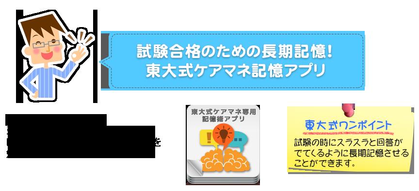 試験合格のための長期記憶!東大式ケアマネ記憶アプリ